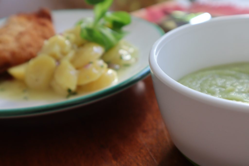 my potato salad recipe served for mommy and baby
