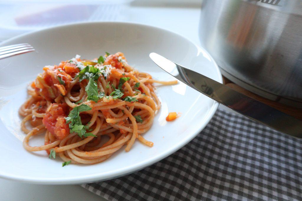 lentils bolognese vegan
